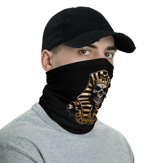 New Protective Egyptian Pharaoh Skull Face Mask, Neck Gaiter, Headwear , Bandana