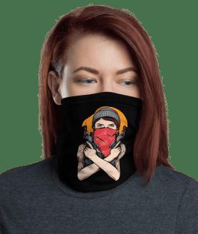 New Protective Gangster Girl Face Mask, Neck Gaiter, Headwear , Scarf, Bandana