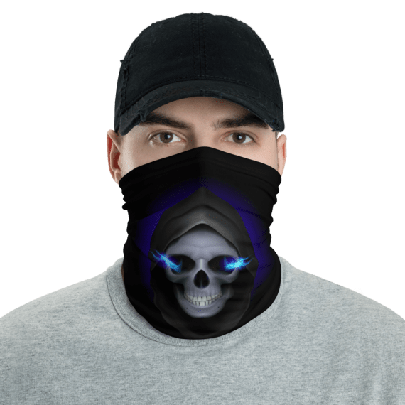 New Skull With Fiery Eyes Face Mask, Bandanna, Scarf, Neck Gaiter, Headwear, Headband Hair Cover, Mouth Cover, Nose Cover, Scarves