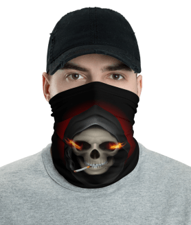 New Smoking Skull Protective Face Mask, Bandanna, Scarf, Neck Gaiter, Headwear, Headband Hair Cover, Mouth Cover, Nose Cover, Scarves