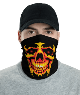 New Spooky Human Skull Protective Face Mask, Bandanna, Scarf, Neck Gaiter, Headwear, Headband Hair Cover, Mouth Cover, Nose Cover, Scarves