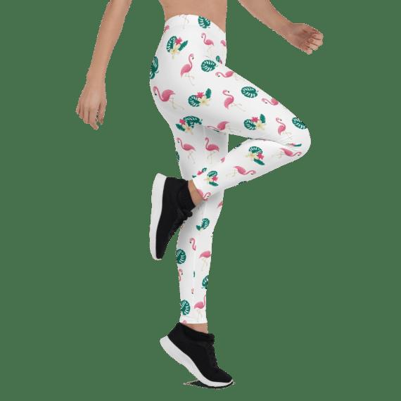 Pink Flamingo Flaming Summertime Style Leggings -  Flamingo Yoga Wear Yoga Pants