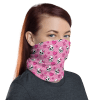 Protective Hearts and Skulls Face Mask, Neck Gaiter, Headwear , Scarf, Bandana