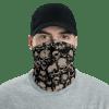 Protective Scary Grunge Skulls Neck Gaiter, Face Mask, Headwear , Scarf, Bandana
