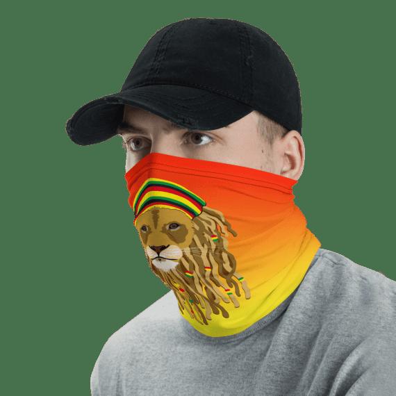 Washable & Reusable Rasta Lion Face Mask, Bandanna, Scarf, Neck Gaiter, Headwear, Headband Hair Cover, Mouth Cover, Nose Cover, Scarves