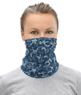 Protective Face Mask, US Navy Seals Camo Face Mask, Blue Camouflage Face Mask