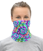 colorful face mask, Shiny tie dye swirl print face cover, bandana , washable masks, Neck Gaiter