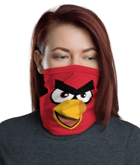 Funny Angry Birds Face Mask, Neck Gaiter Face Shield Cover Balaclava Scarf Headwear