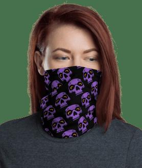 **High Quality** Protective Spooky Purple Sugar Skull Face Mask, Balaclava Masks Neck Gaiter