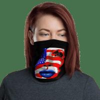 USA Patriots Face Mask Shield Gaiter U.S. FLAG Washable Reusable American Power Girl Mask, Neck Gaiter