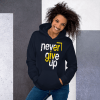 Unisex Motivational Quote Hooded Sweatshirt, Best Inspirational Lettering typography Quotes Hoodie, Never Give Up Hoodie