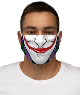 Joker Face Mask Halloween Fashion Cloth Washable Fabric Mouth Mask - Reusable Mask