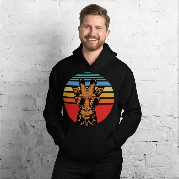Cute Giraffe Safari Hoodie - Unisex Unique Hooded Pullover Sweatshirt