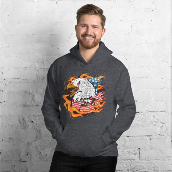 American Eagle Printed Relaxed Fit Unisex Hoodie