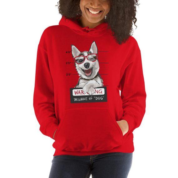 Beware Of Dog Funny Unisex Hoodie - Funny Dog Warning Hoodie