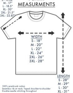 shirt size chart tee also guide rh whatdidyoubringmetead