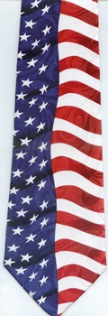 American and International Flags plus Nautical Signal Neckties