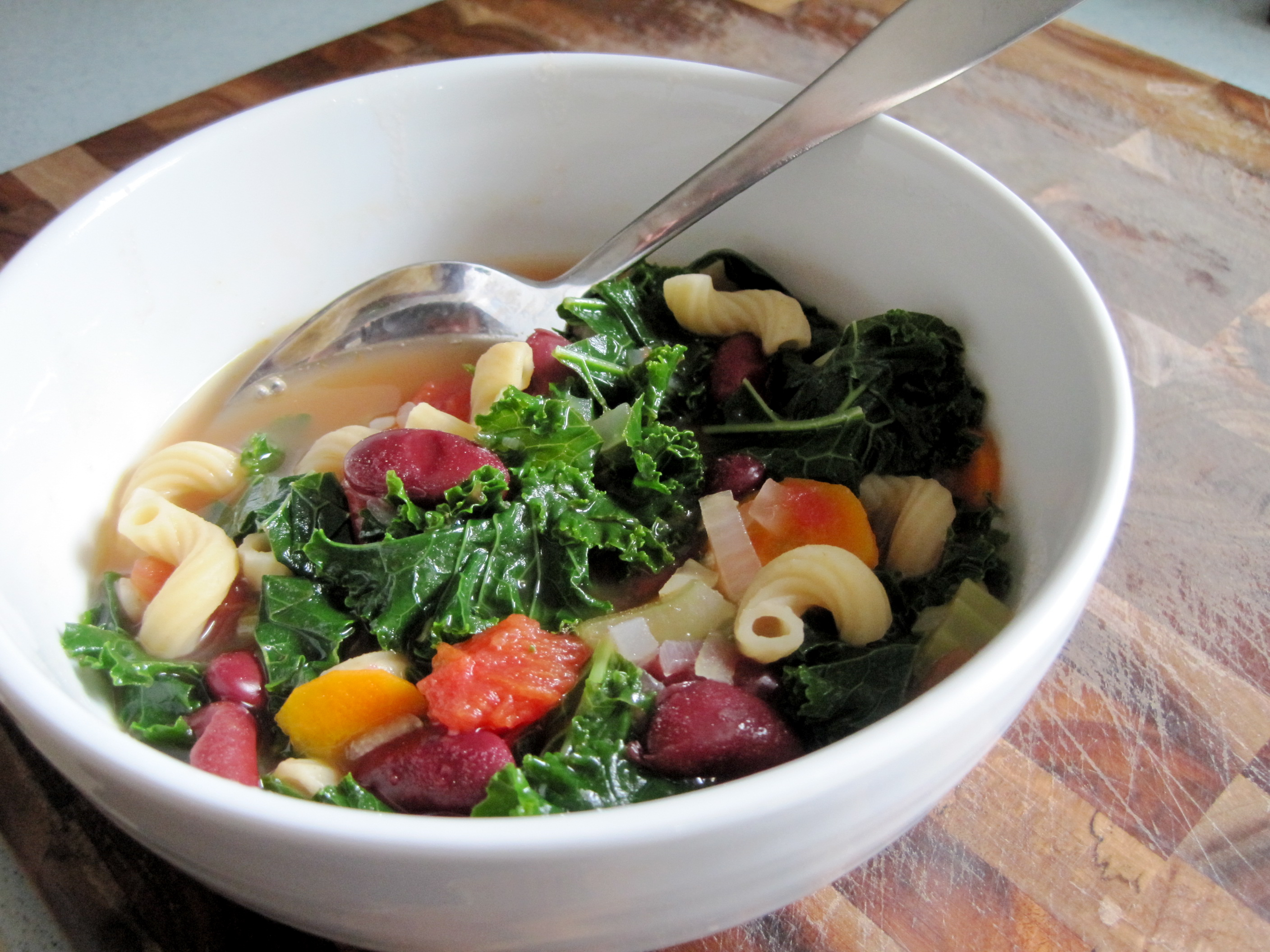 Pasta And Bean Soup With Kale A Vegan Recipe