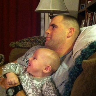 Tommy loves watching TV. He's totally our son.