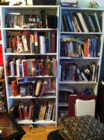 Cluttered Shelves