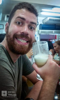 Enjoying some juice at Skina dos Sucos