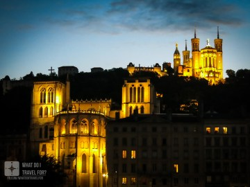 The Basilica of Notre Dame de Fourviere was built between 1872 and 1884 and is dedicated to the Virgin Mary, who saved the city of Lyon from a cholera epidemic in 1643. Each year on December 8,Lyon thanks the Virgin for saving the city by lighting candles throughout the city, in what is called the Fete des Lumieres or Festival Of Lights