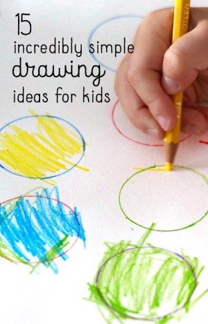 drawing easy activities children drawings toddlers super fun therapy preschoolers preschool draw toddler incredibly whatdowedoallday simple needs special projects kid