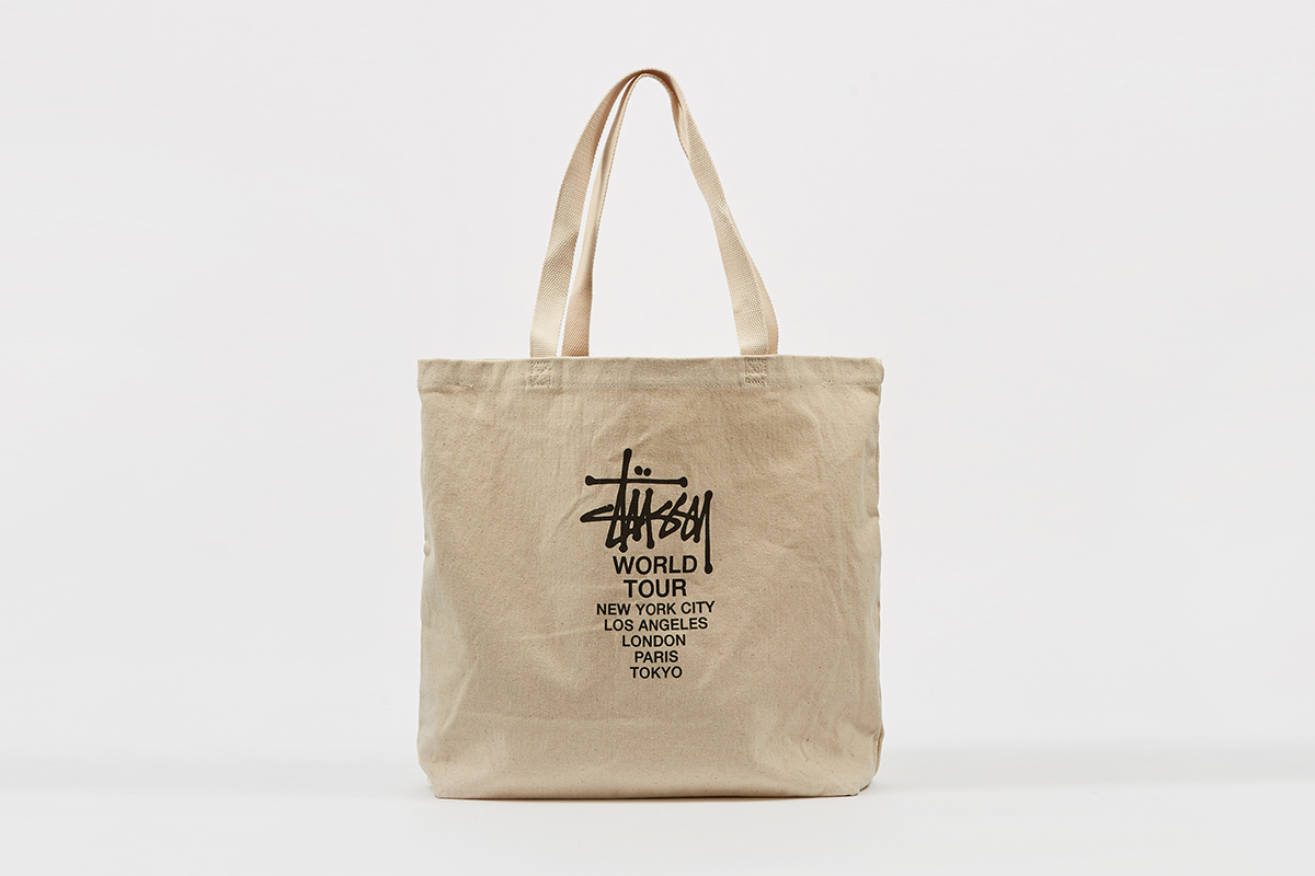 stüssy canvas tote bag