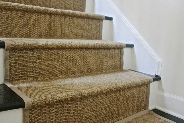 Diy Ikea Jute Rug Stair Runner What Emily Does   Rug Runners For Stairs   Narrow   Landing   Victorian   Traditional   Persian