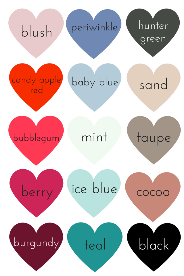 Winter Color Chart