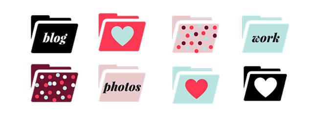 February Folder Icons