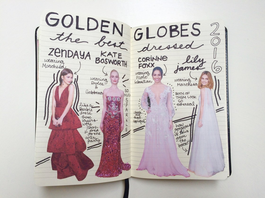 This page is kind of a fashion snapshot - my best-dressed list from the most recent Golden Globes.