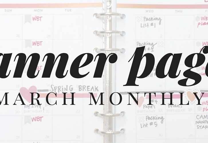 March Monthly Planner Pages