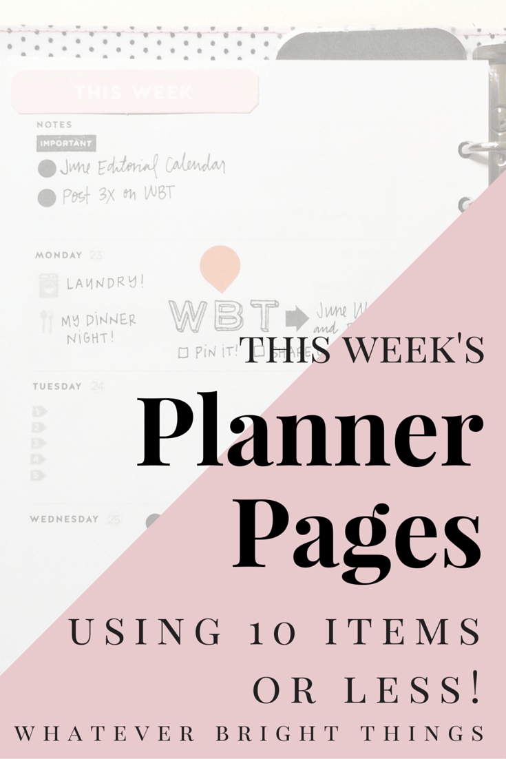 A Planner Spread Using 10 Items or Less?! Click through to see how I create a simple, colorful, functional, AND beautiful weekly spread using just a few items.