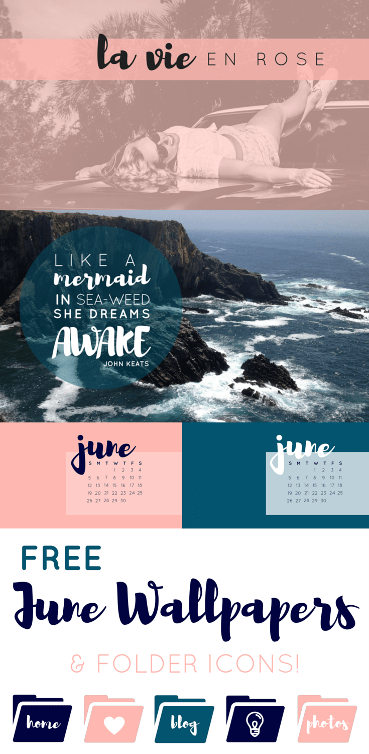 Decorate your desktop with these June Wallpapers & Folder Icons! Inspired by a European Summer holiday, these designs are sure to brighten up your computer. Click through to download the free designs!