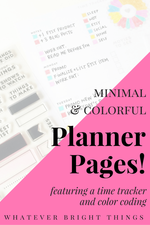 Looking for a simple way to make your planner more functional AND colorful? With a time tracker and color-coding system, your planner will be just that. Click through to see how I organized my week!