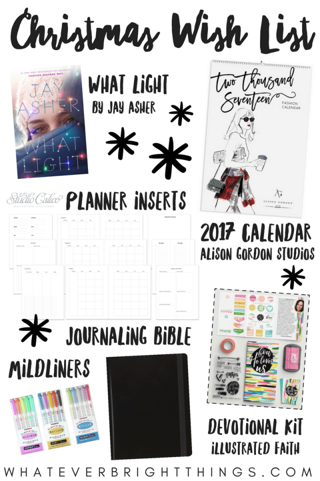 Check out what's on my Christmas Wish List 2016! You might even find some gift ideas for a friend, or to put on your own wish list!