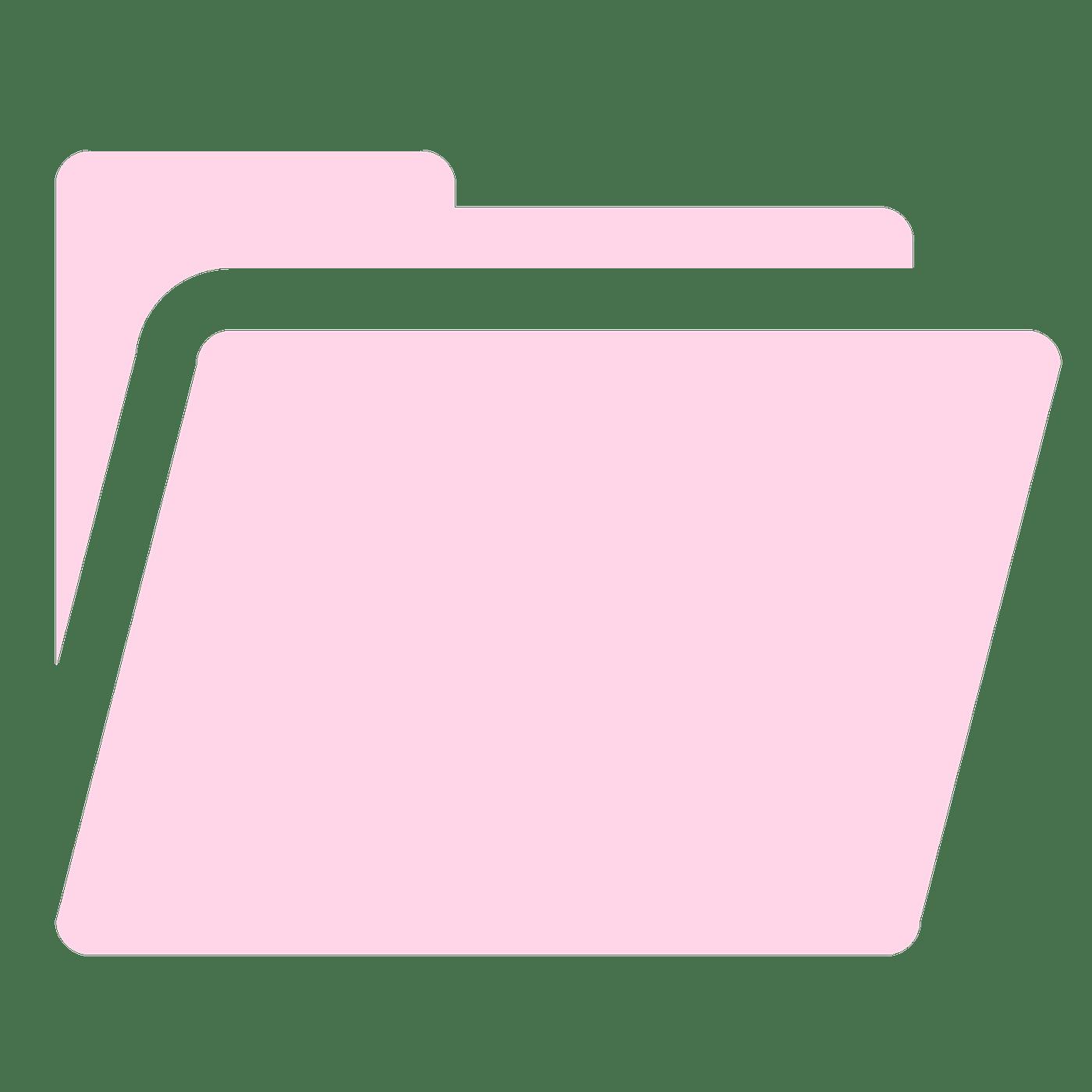 Pink Folder Blank