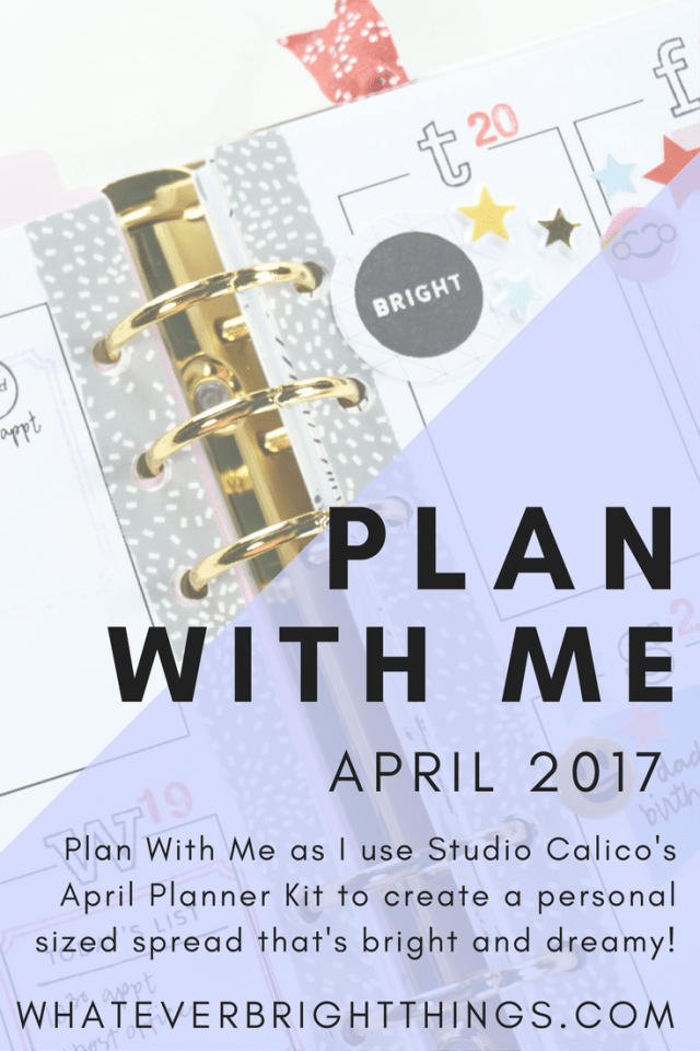 Plan With Me as I use the Studio Calico April Planner Kit - Written In The Stars - to create a personal planner spread that's bright and dreamy!