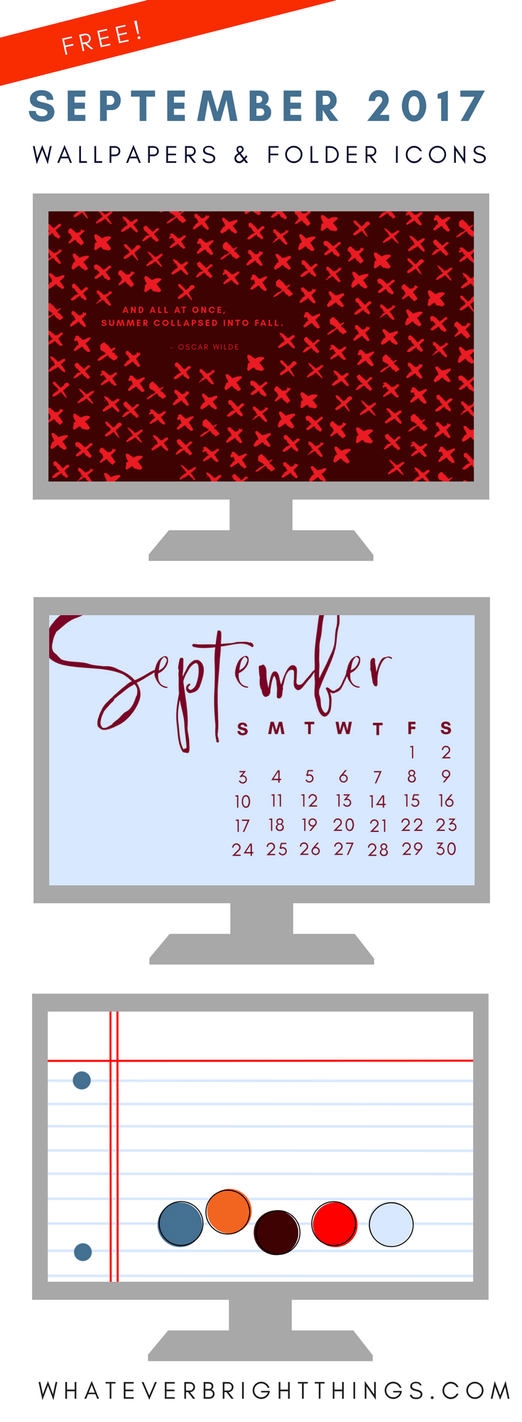 September 2017 Wallpapers Folder Icons Whatever Bright Things