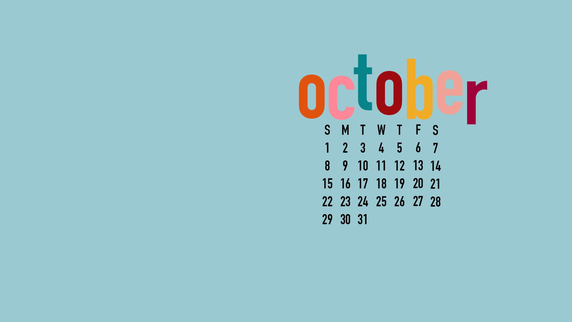 Oct Calendar Sky