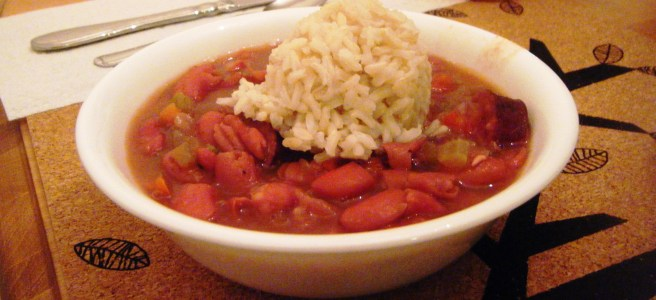 Red beans & rice, a New Orleans classic!