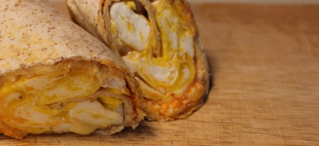 "An ""eggy wrap"" is the perfect any time meal. Fast, cheap and easy!"