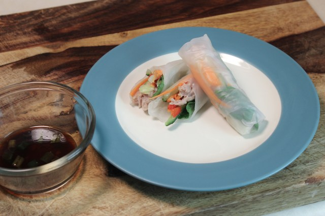 Summer Rolls with Quick-Pickled Vegetables