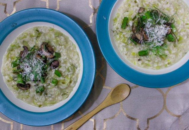 Fennel Leek Risotto