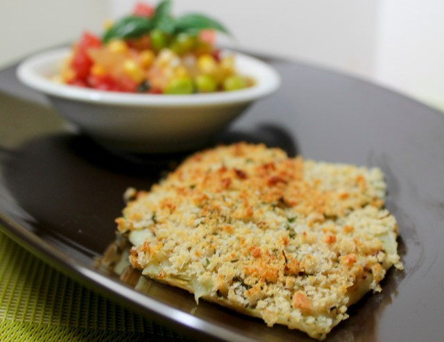 panko-crusted fish