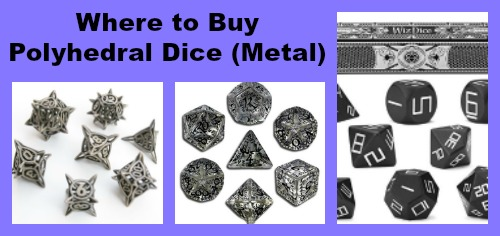 Where to Buy Polyhedral Dice Metal