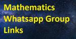 Mathematics WhatsApp Group Links 2021-22