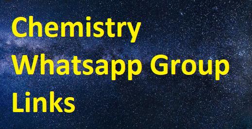 chemistry whatsapp group links