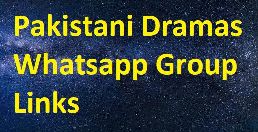 Pakistani Dramas Whatsapp group links
